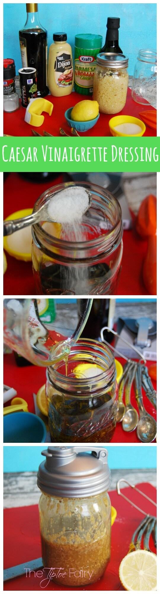 Combine ingredients and shake it up to make Caesar Vinaigrette Dressing