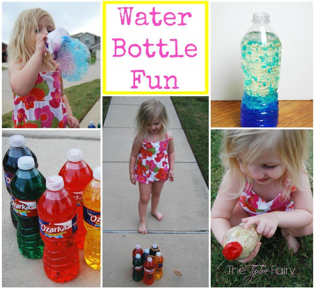 We've got 5 ways to play with your old recyclable water bottles! From bowling to lava lamps and more!