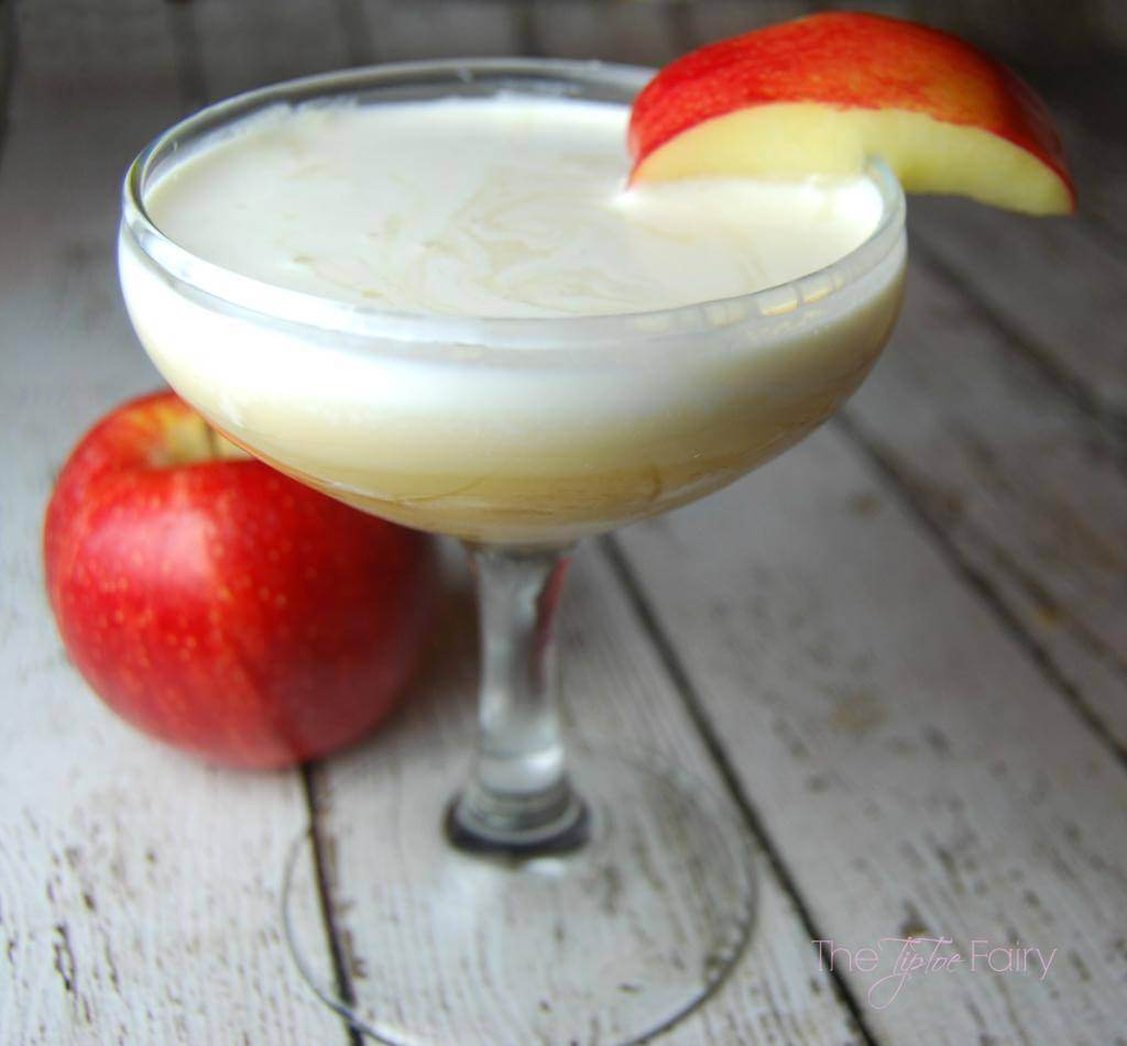 Whipped Apple Cocktail close up swirls