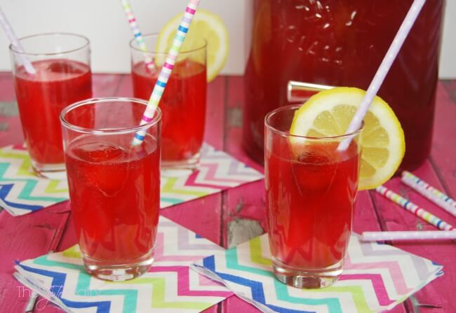 Glasses of party punch.