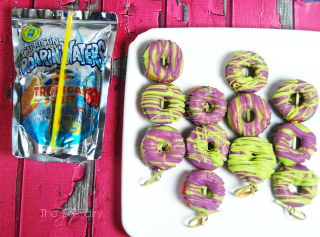 Make some Rainbow Tie Dye Mini Donuts with cake mix! Super easy and fun! The TipToe Fairy #KidsChoiceDrink #Ad