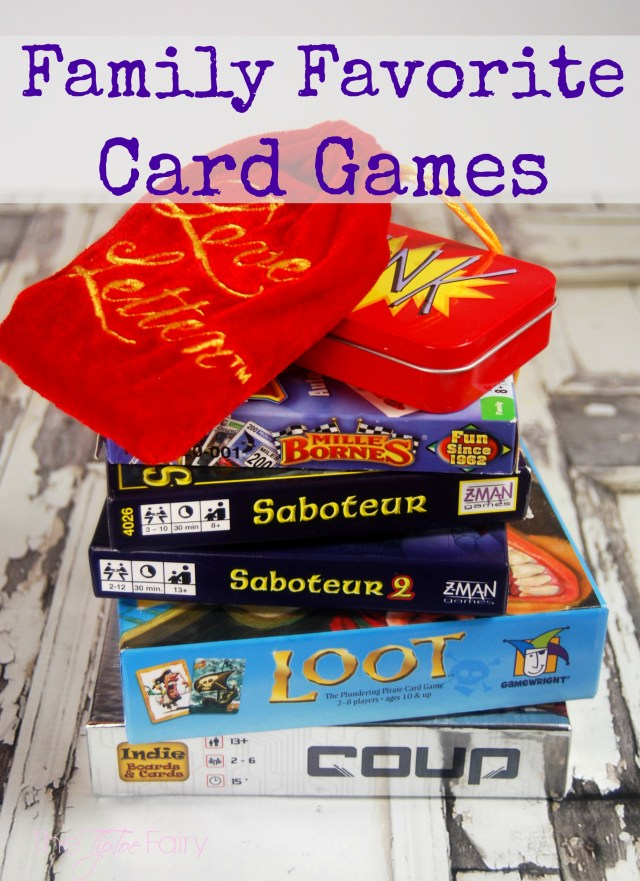 Our favorite card games to play on family game night. Perfect for tweens, teen, and adults for a backstabbing good time! | The TipToe Fairy