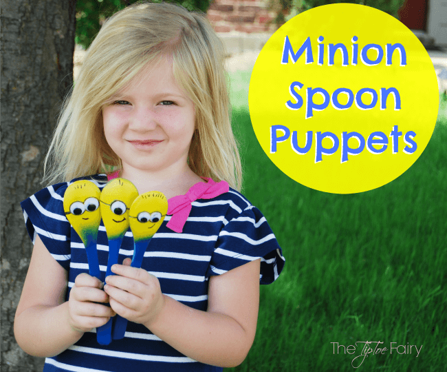 Make easy Minion Spoon Puppets and find #The7thMinion! #ad | The TipToe Fairy