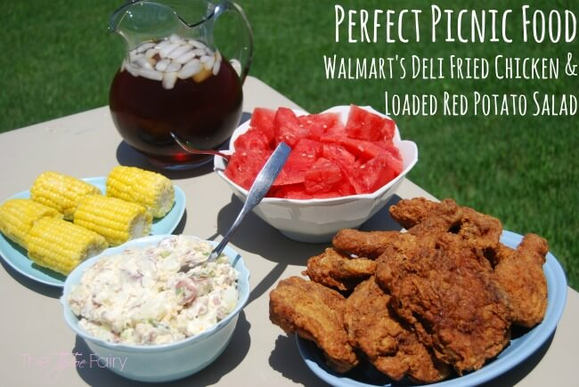 #AD: Perfect Picnic Food with @Walmart Deli Fried Chicken & Loaded Red Potato Salad - get the recipe! #SummerYum | The TipToe Fairy