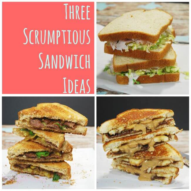 THREE Scrumptious Sandwich Ideas - perfect for lunch or any time! #ad | The TipToe Fairy