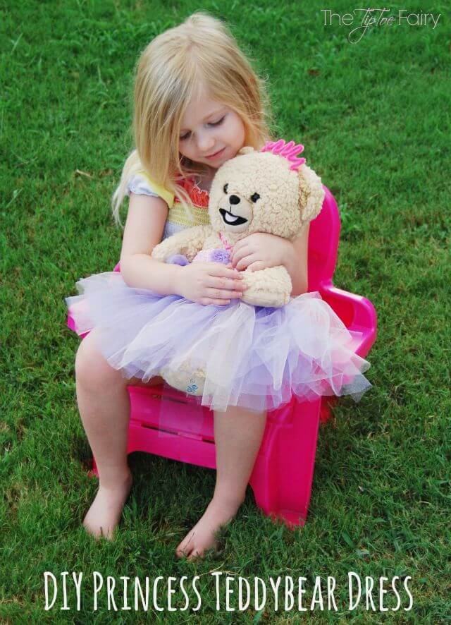 DIY Snuggle Bear Teddy Bear Princess Dress #ad #ShareABear | The TipToe Fairy