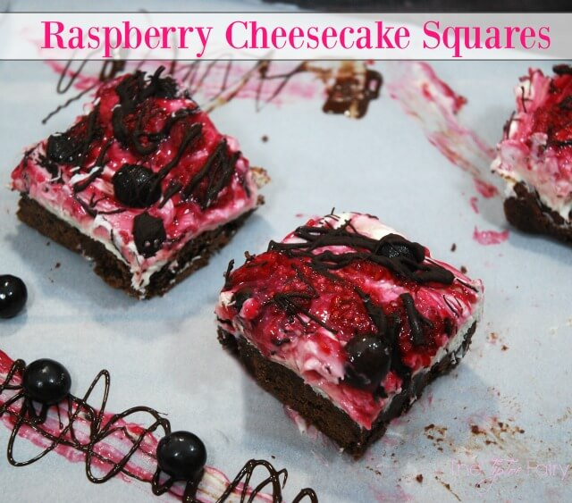 Raspberry Cheesecake Squares with Brookside Chocolate - a delicious dessert! #ad | The TipToe Fairy