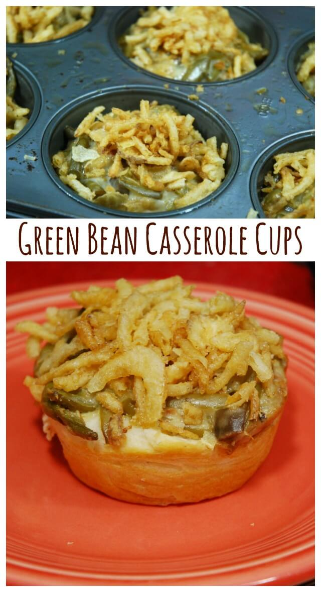 Green Bean Casserole Cups - the perfect individual side dish for the holidays! #ad #ThisIsMyTwist | The TipToe Fairy