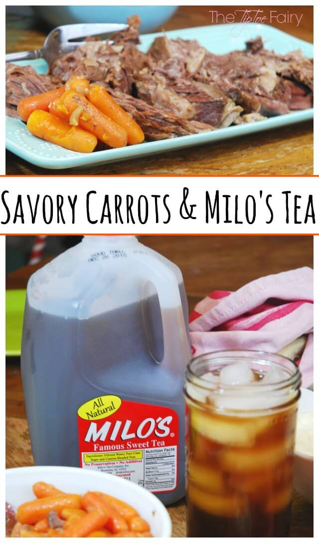 Easy Savory Carrots for the perfect #meal #ad #DrinkMilos | The TipToe Fairy