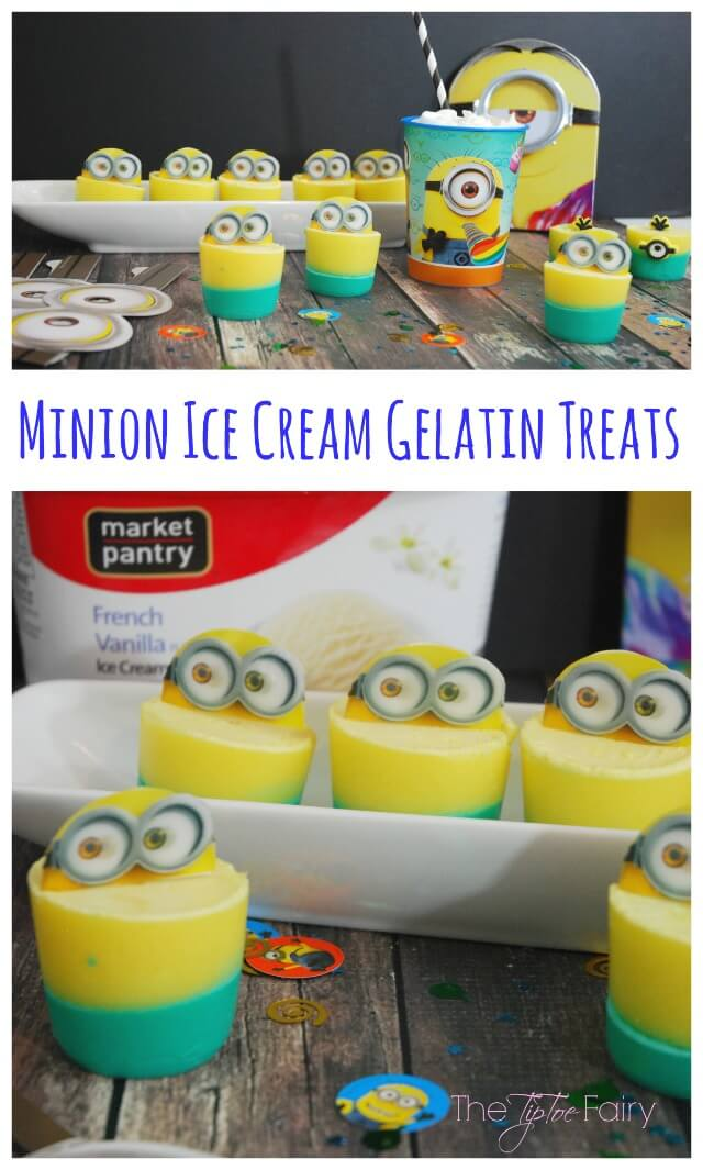 Make some Ice Cream Gelatin Treats for your #MinionsMovieNight w @TheTipToeFairy #yum AD