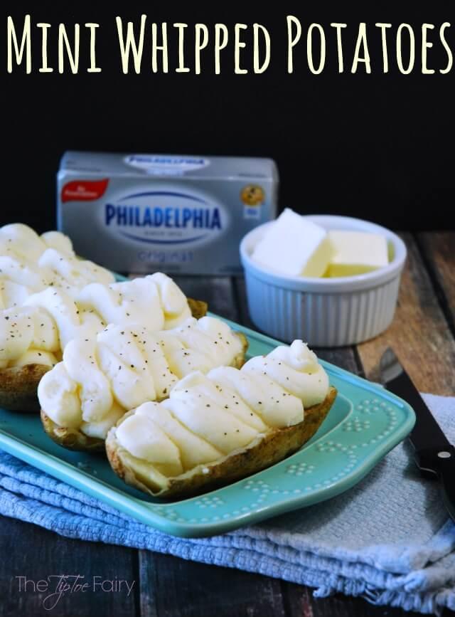 Mini Whipped Potatoes with Philadelphia Cream Cheese are magic! AD #NaturallyCheesy | The TipToe Fairy
