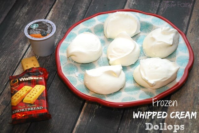 Frozen Whipped Cream Dollops & Starbucks Hot Cocoa at home! #KCup #HotCocoa #IC AD