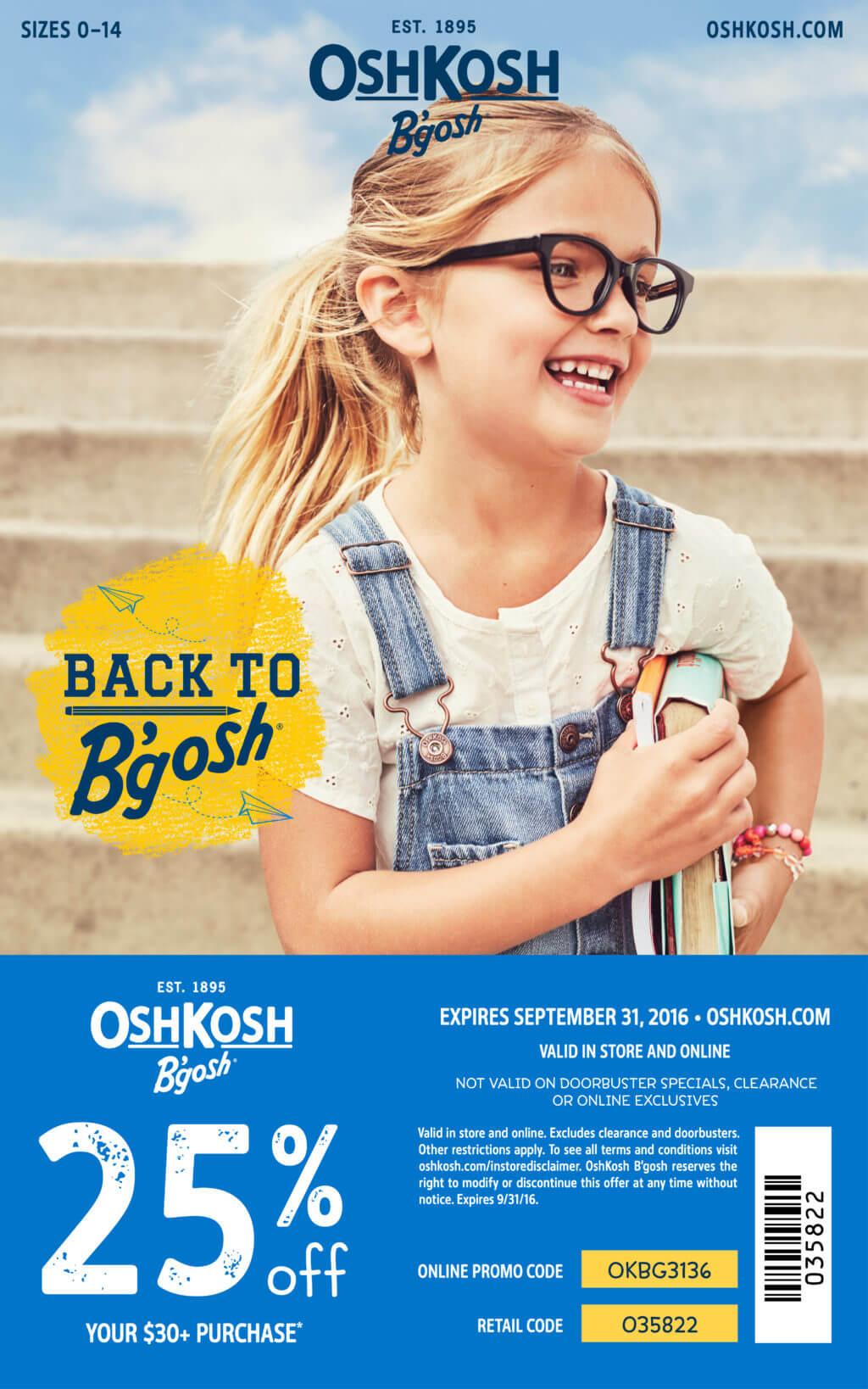 Get #BacktoSchool w/3 easy tips & a 25% coupon for @OshKoshBgosh #OshKoshKids #BacktoBgosh #ad