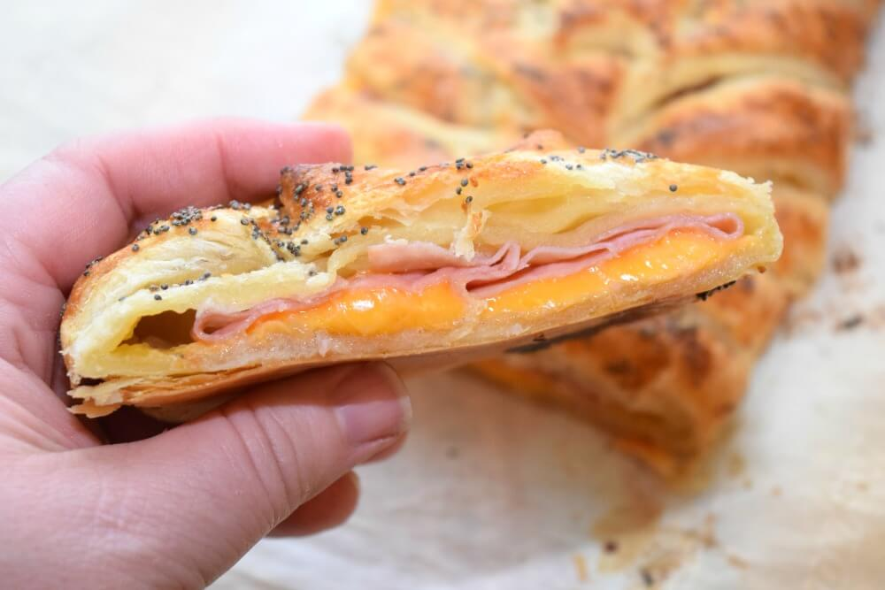 ... this easy Ham and Cheese Breakfast Braid #ad @Walmart