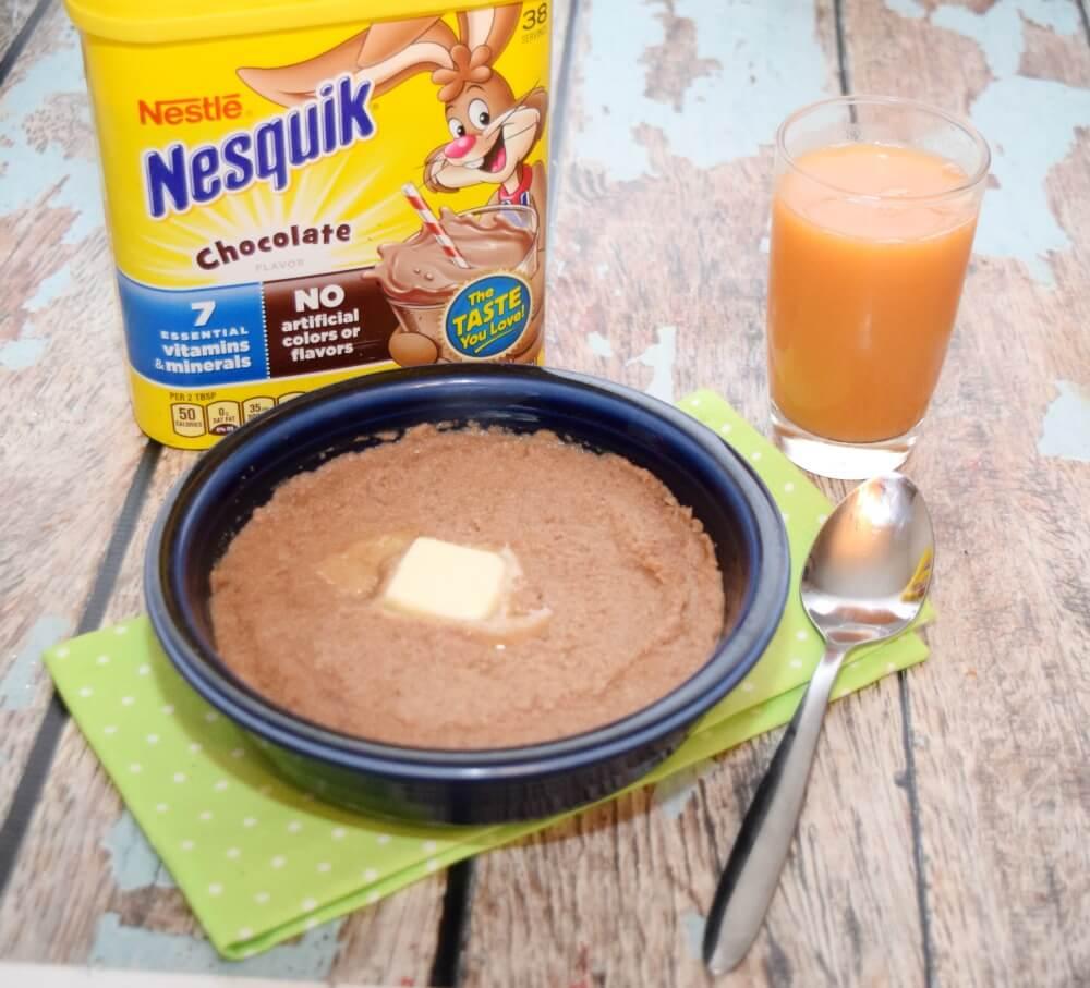 Make Creamy Delicious Chocolate Farina for #breakfast w/ Nesquik #StirImagination #ad #food #foodie