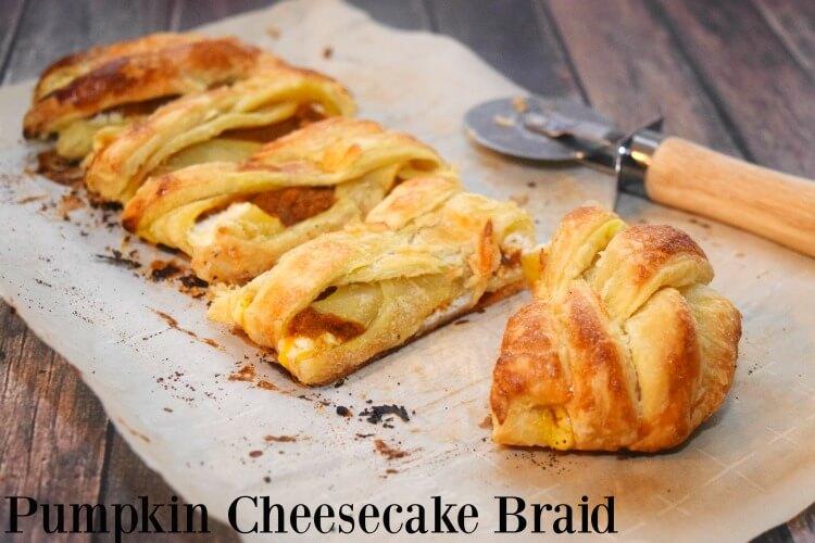 Go beyond #pumpkinpie w/ this easy Pumpkin Cheesecake Braid! #SoFabSeasons #dessert