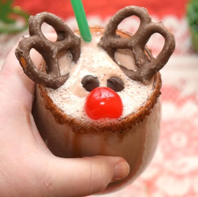Have a Rudolph the Red Nosed Reindeer milkshake! #25ChristmasMovies #drink #yum #chocolate