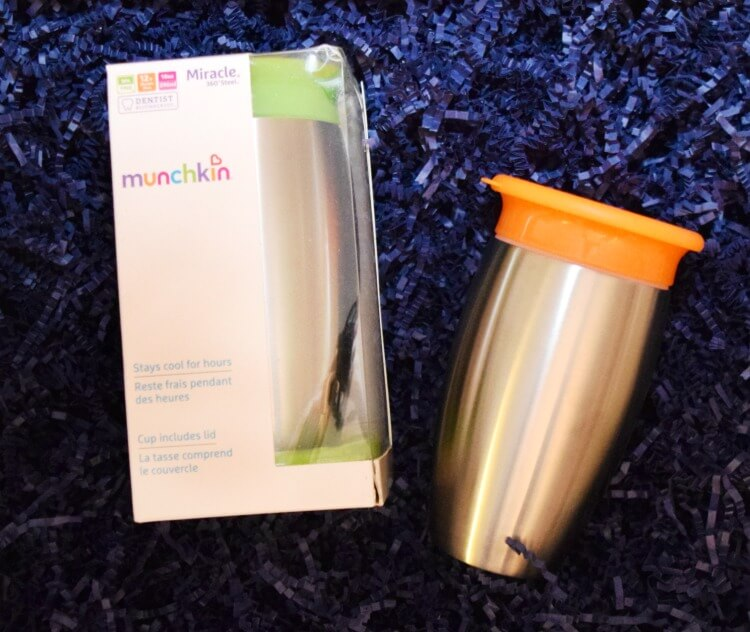 A stainless steel sippy cup that doesn't leak! #BabyBabbleboxx #munchkinmoments #itsthelittlethings #ad