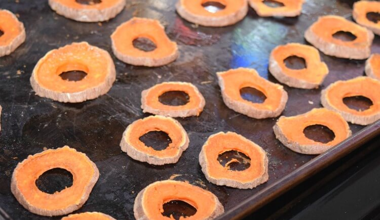 Sweet Potato Dog Treats - easy to make & your dog will love them! #dog #pets #food