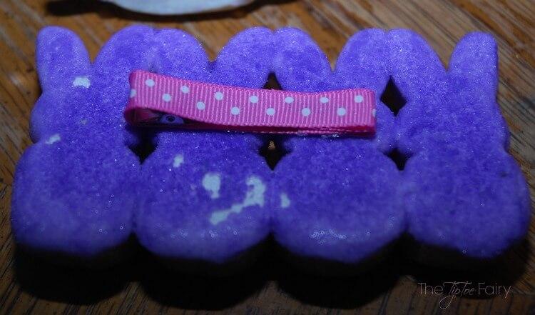 #DIY Marshmallow Peep Hair Clip for #Easter
