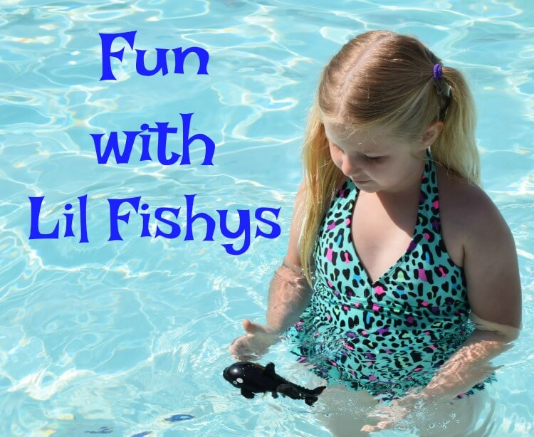 Check out the fun we had with #LilFishys - motorized water pets! #ad #summer #poolfun
