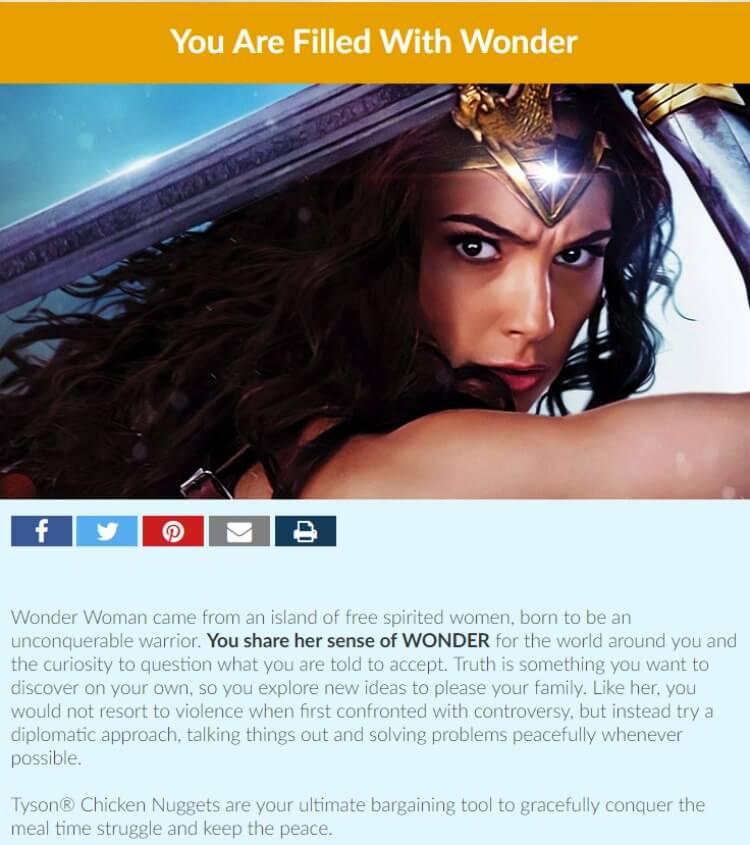 Take the quiz! Which Wonder Woman power do you have? #WonderWomanAtSamsClub #ad @!SheSpeaksUp