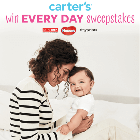 Do you #lovecarters? Check out the @Carter's Win Every Day Sweepstakes now through 10/2! #ad