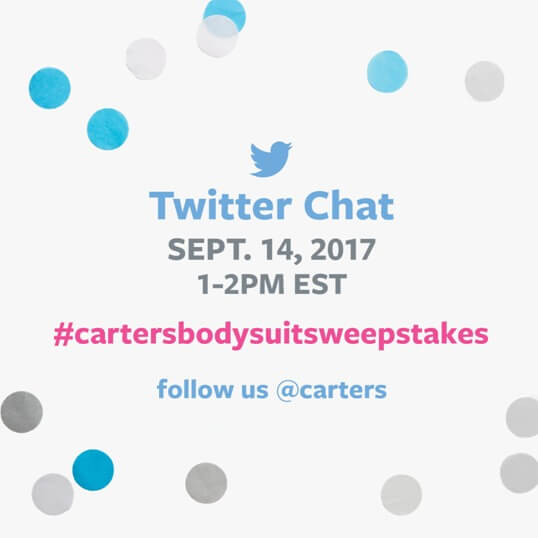 Do you & your baby #lovecarters? Come chat & #win for The Original Bodysuit Day w @Carters! #ad