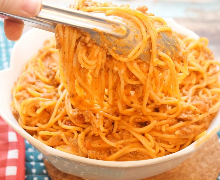 Delicious One Pot Creamy Spaghetti with O Organics. @MarketStreet__TX AD #SignatureCare