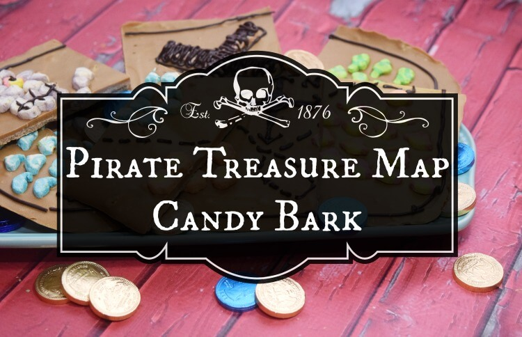 Make this Pirate Treasure Map Bark! Perfect for party treats! #ad #PostCerealCreations