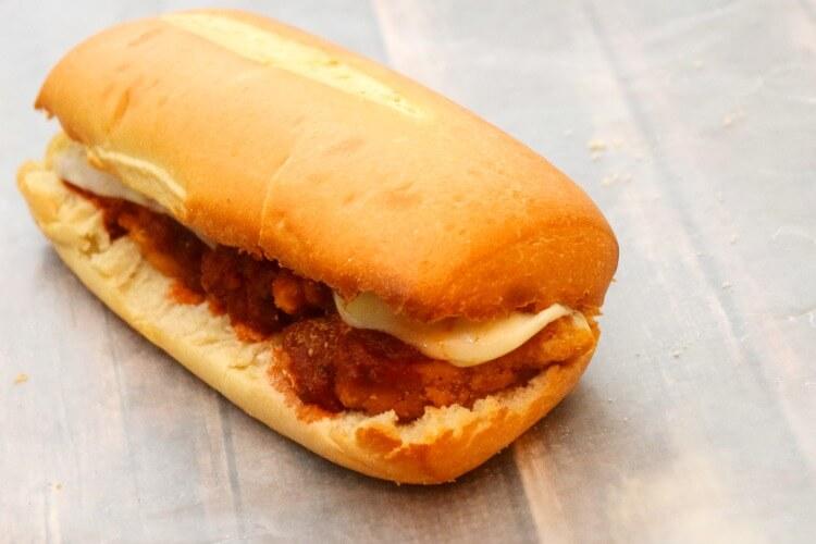 Quick & Easy Popcorn Chicken Parmesan Sandwich #ad