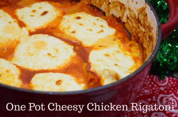 One Pot Cheesy Chicken Rigatoni for a perfect #holidaypairing! #ad @BarillaUS @GalbaniCheese @Walmart
