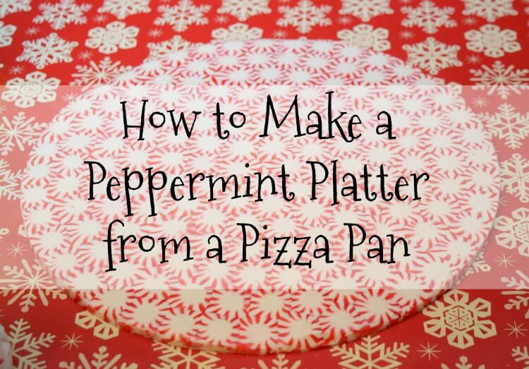 How to Make a Huge Peppermint Platter with a pizza pan! #Christmas