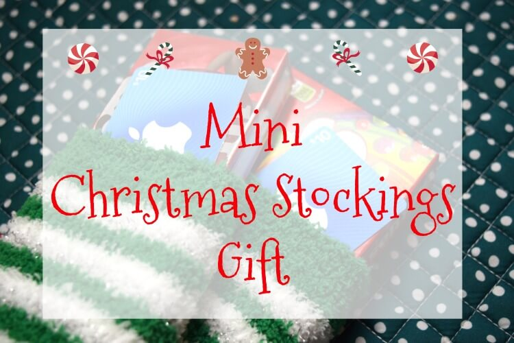 Make these Mini Christmas Stocking Gifts for Teachers or anyone! #ad #SaveMoneyGiveBetter2017 @InComm