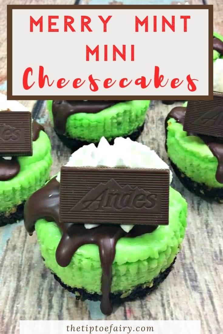 Merry Mint Mini Cheesecakes