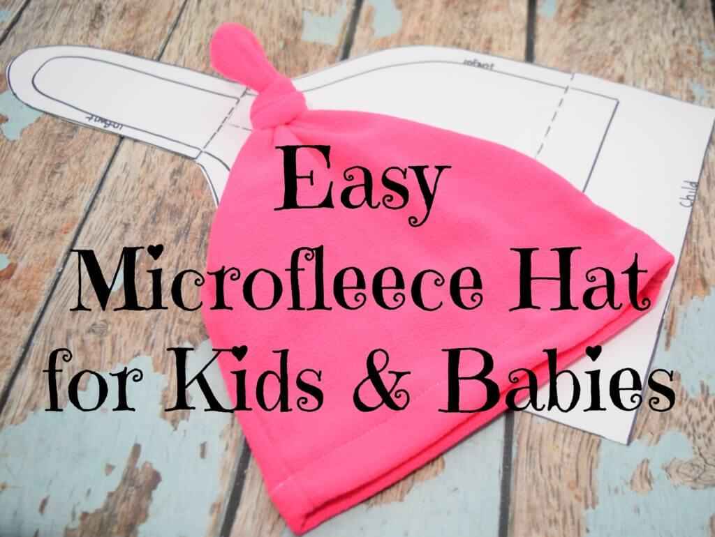 DIY Microfleece Hats for Kids & Babies for Stocking Stuffers! #StockedWithLove #ad