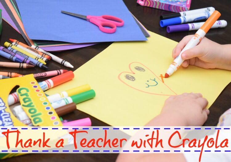 Thank a Teacher with Crayola to win!