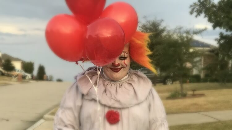 My son's simple DIY Pennywise clown Halloween costume