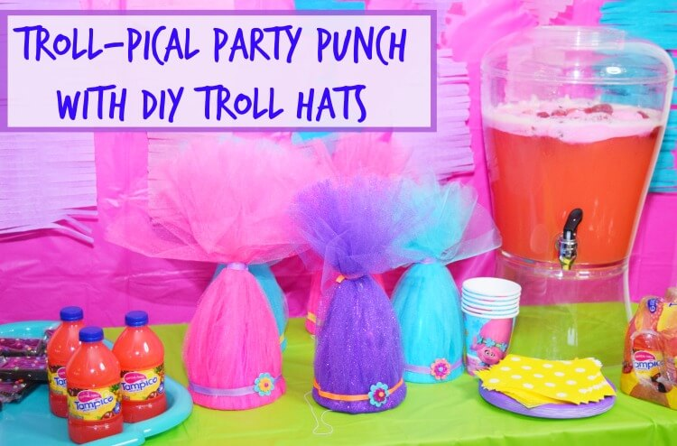 Troll-pical Party Punch & Troll Hats