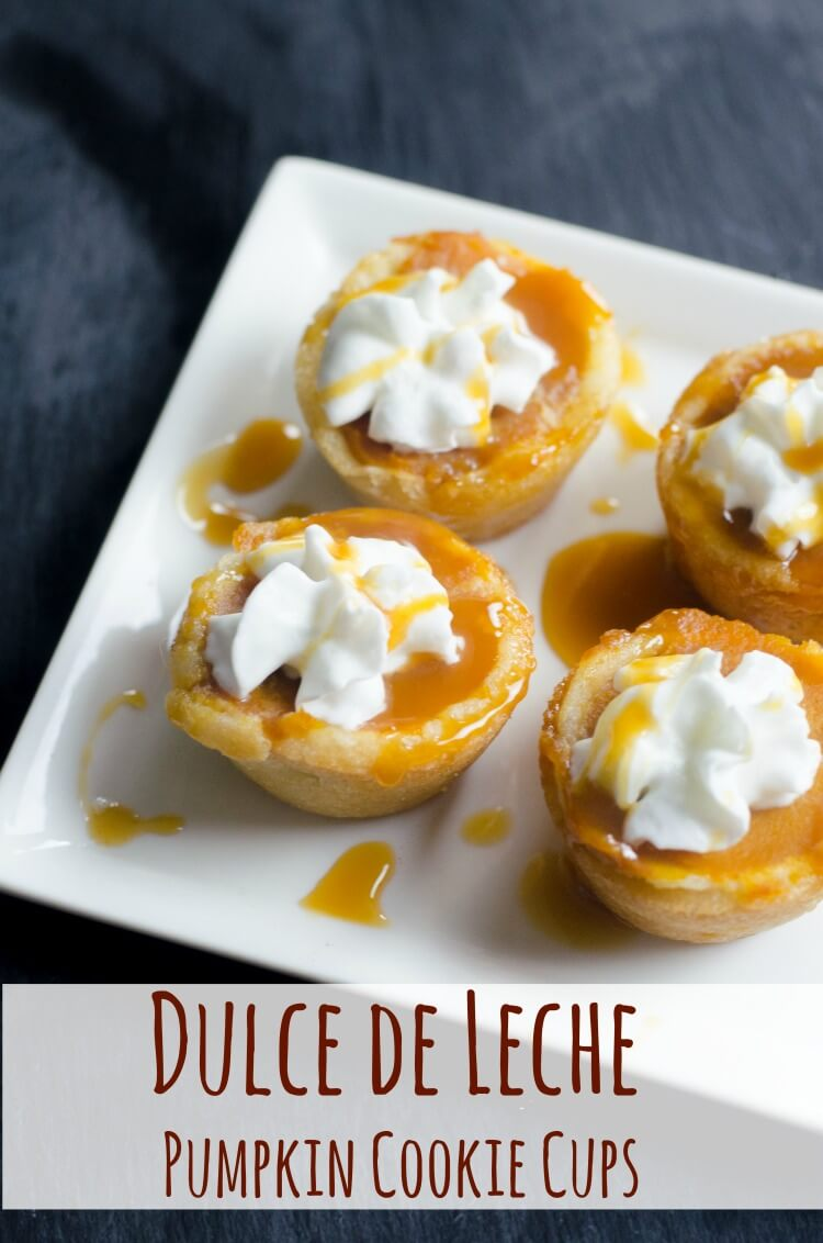 Dulce de Leche Pumpkin Cookie Cups