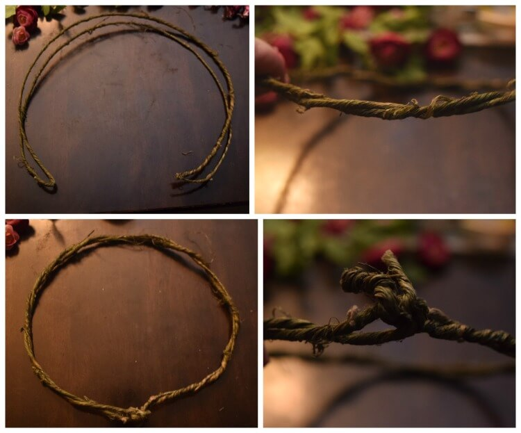 How to Make a Crown from Grapevine Wire