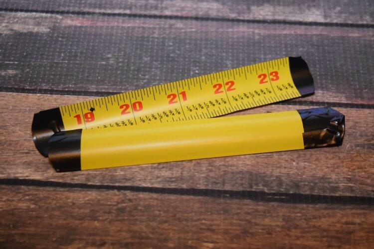 Metal tape measure pieces