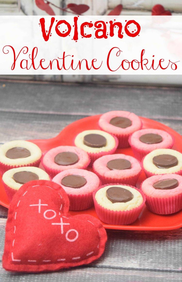 How to make Volcano Valentine Cookies