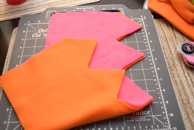 Line up points and sew