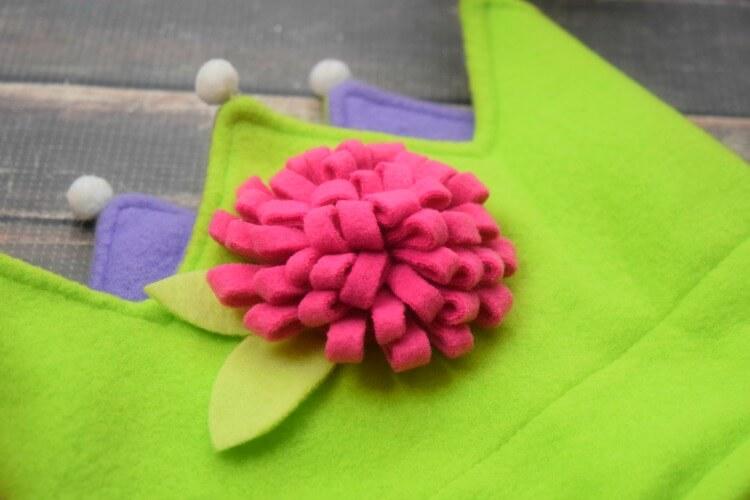 Fleece Flower on Fleece Crown
