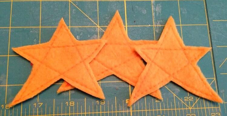 Fleece Star Embellishments