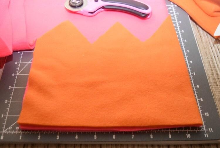 Cut 1 from each fabric