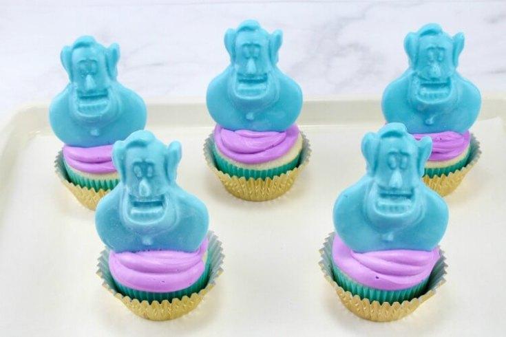 Aladdin's Blue Genie Cupcakes