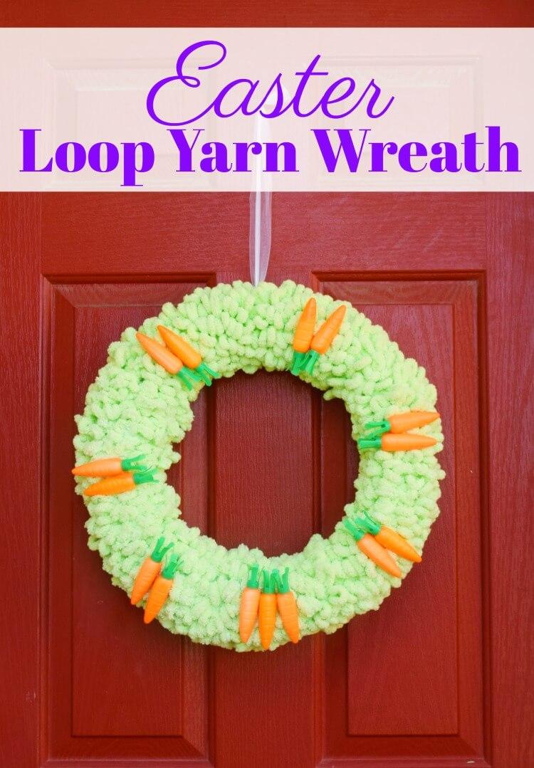 How to make a loop yarn Easter wreath.