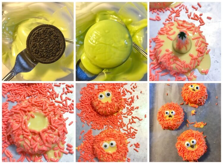 How to easily make these Lion King inspired dipped OREOs for your little ones.